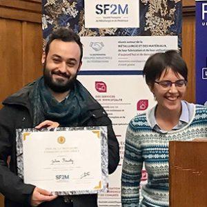 J. Fausty lauréat du prix scientifique SF2M