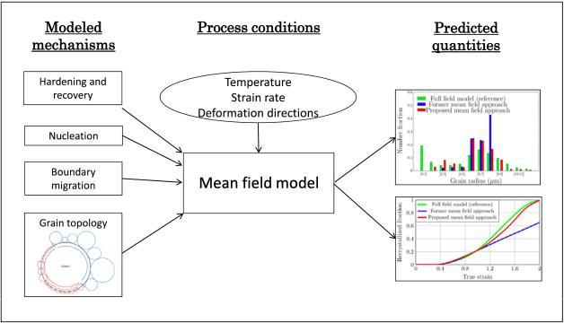 Schéma illustratif du cadre de champ moyen développé