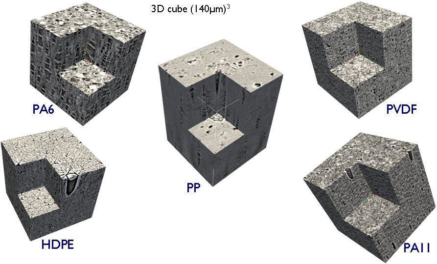 Imagerie 3D par tomographie au synchrotron de microstructures sphérolitiques déformées